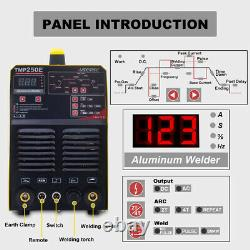 TIG MMA PULSE 250A WELDER 110/220V AC DC INVERTER WELDING MACHINE Aluminum