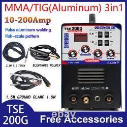 TSE200G Aluminum Welder AC/DC TIG/MMA 3 In 1 Welding Machine 220V±15%