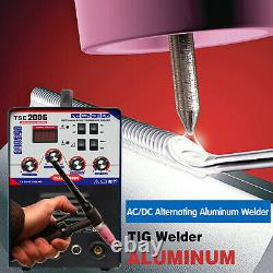 TSE200G Aluminum Welder AC/DC TIG/MMA 3 In 1 Welding Machine 220V±15% US Stock