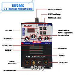 TSE200G Aluminum Welding Machine TIG MMA Pulse Welder 200A 230V DC