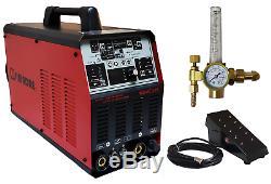 Tig Ac/dc Pulse Simadre Tig200p Inverter Welder Weld Aluminum Ft Pedal Argon Reg