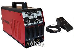 Tig Mma Ac/dc Pulse Simadre 200a Tig200p Inverter Welder Weld Aluminum Ft Pedal
