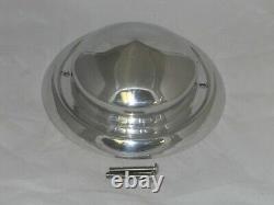 USED WELD RACING 9-1/8 DIA CONE FORGED ALUMINUM WHEEL RIM CENTER CAP With SCREWS