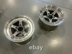 Used Weld Racing RT Forged Aluminum Polished 15 x 10 Rear Wheels 05-14 Mustang