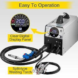 VEVOR MIG Welder Welding Machine 200A Flux Core 6 in 1 TIG/MMA Aluminum Welding