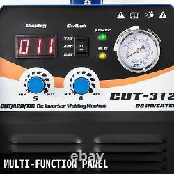 Vevor CT312 TIG/MMA Welder + Plasma Cutter 3 in 1 Welding Machine + Accessories