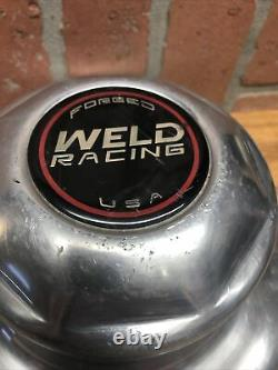 Vintage TALL Weld Racing Forged USA Truck Custom Wheel Center Hub Cap PAIR 9