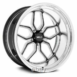 Weld Performance S107 Laguna Wheels 20x8 (0, 5x120.65, 78.1) Black Rims Set of 4