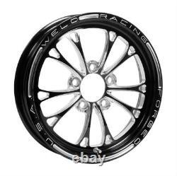 Weld Racing 84B-15202 Drag 15x3.5'' Black V-Series 1-Pc 5X4.5'' 2.25'' Backspace