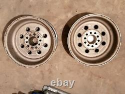 Weld Racing Draglite, 15 X 8, 4 1/2 and 4 1/4 Bolt Cir, WithCaps set of 2 rims