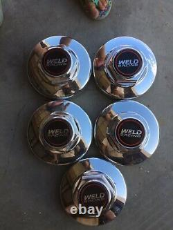 Weld Racing Polished Aluminum Cover Center Cap 6 1/4 Diameter Push In Style