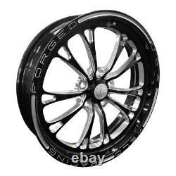 Weld V-Series, 17 x 4.5, 5 x 4.75, 2.25 BS, Black